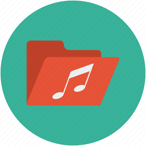 audio file, documents, folder, music, music category, music folder, sound icon