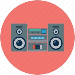 audio, sound, sound system, speaker, speaker devices, speakers, stereo, woofer icon