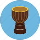 djembe, drum, multimedia, music, music instrument icon