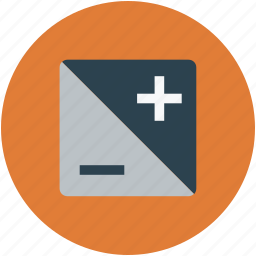 add, calculation, calculator, digital calculator, minus, multimedia icon