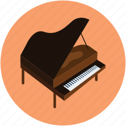fortepiano, grand piano, instruments, multimedia, piano, piano keyboard, piano table, pianoforte icon