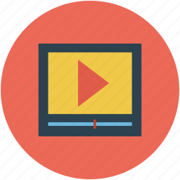 media, media player, multimedia, player, stream, tv, video player icon