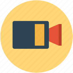 movie camera, shooting camera, video, video camera icon