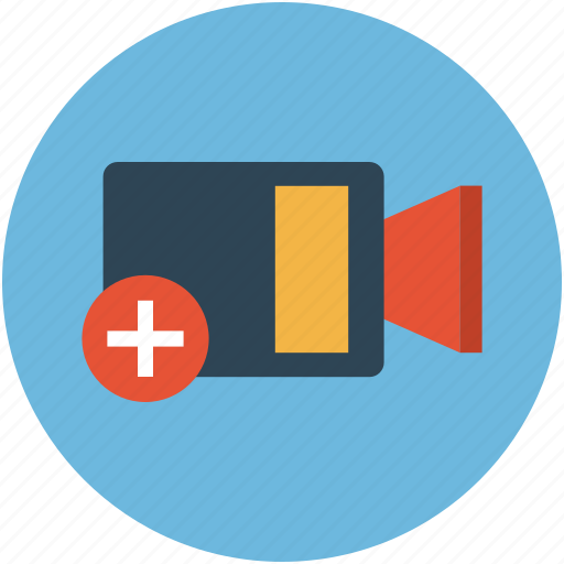 add video, extra video, more video, multimedia, plus video icon