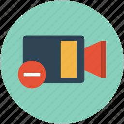 delete video, eject video, multimedia, remove video icon