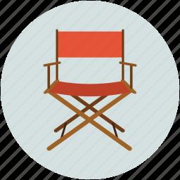 chair, director, entertainment, music, musicians chair, swivel icon