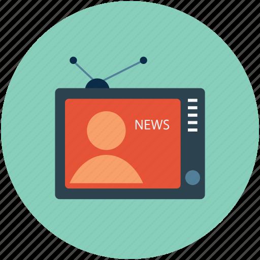 media, movie, television, tv, tv set, video icon