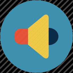 megaphone, music, sound, speaker, voice, volume icon