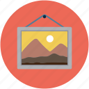 frame, gallery, image, landscape, photo, pic, picture frame icon