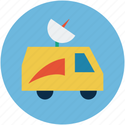 automobile, media, media van, news van, van icon