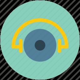 audio, cd, disc, dvd, music, record, vinyl, vinyl with handsfree icon