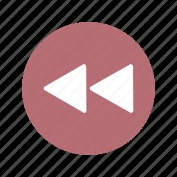 arrows, back, left, move, play, previous icon