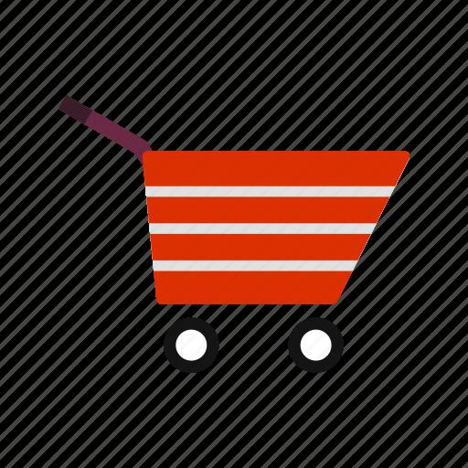 cart, shopping cart, trolley icon