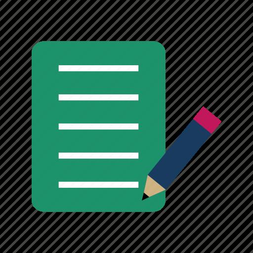 edit, paper, pencil, write icon