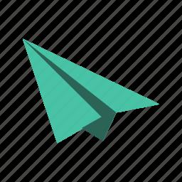 airplane, paper plane, paperplane, plane icon