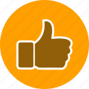 hand, like, thumbs up icon