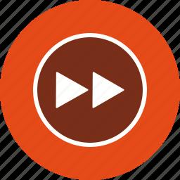 arrows, direction, forward, multimedia, play icon