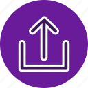 arrows, direction, download, navigation, pin, up, upload icon