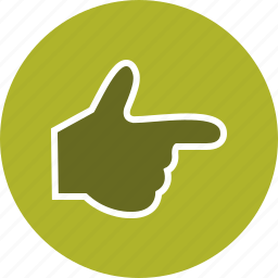 direction, finger, gesture, hand icon
