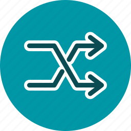 arrows, random, randomize, shuffle icon