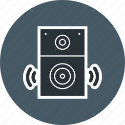 music, sound, speaker, system icon