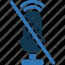 audio, no microphone, no recording, recording closed, sound, wireless microphone icon