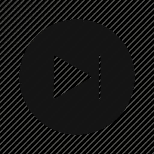 forward, next, player icon