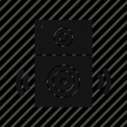 music, sound system, speaker icon