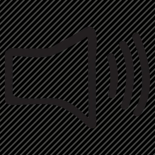 announcement, audio, device, loud, music, sound, speaker icon