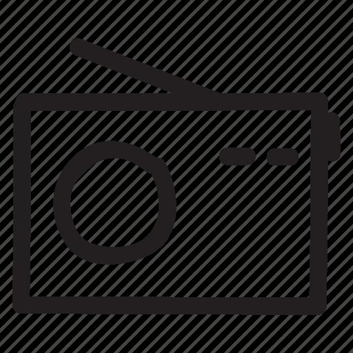 antenna, frequency, media, music, radio, satellite, technology icon