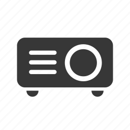 beamer, electronics, multimedia, raw, simple icon