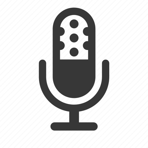 electronics, microphone, multimedia, radio microphone, raw, simple icon