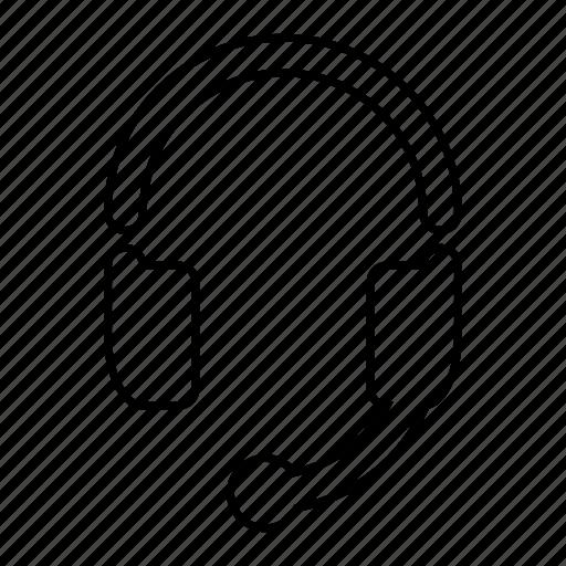 audio, headset, listen, music, service, speach icon