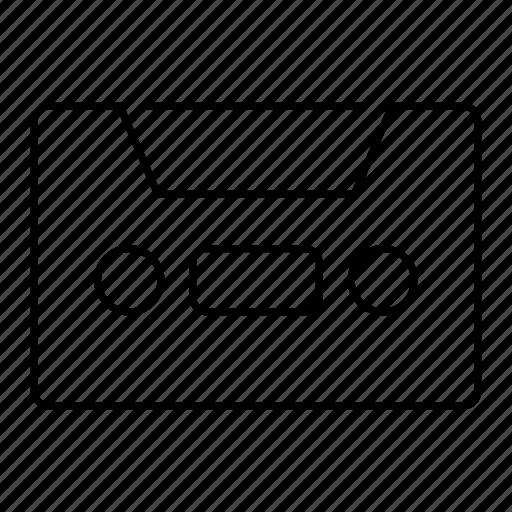audio, media, multimedia, tape icon