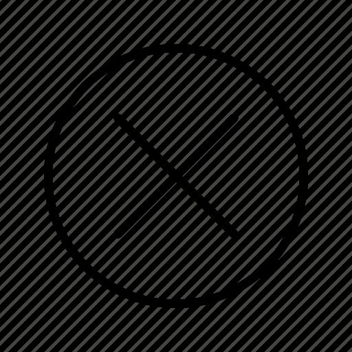 cancel, close, delete icon