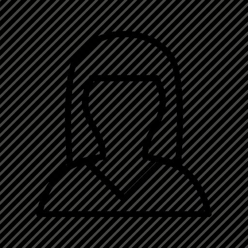 avatar, employee, female, woman icon