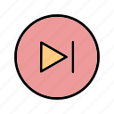 forward, media player, next icon