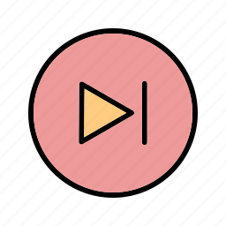 go, next, play, player, video icon