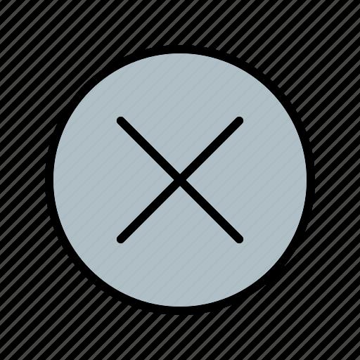 cancel, close, delete, remove icon