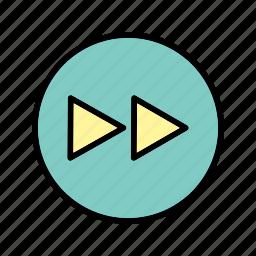 arrows, forward, media player, next icon