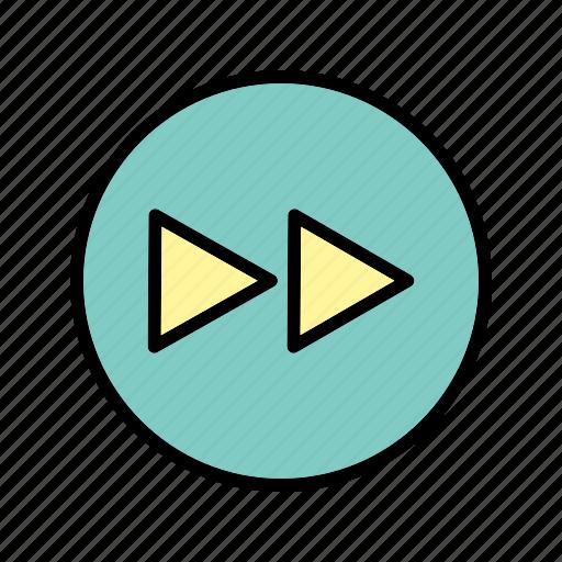 forward, media player, next icon