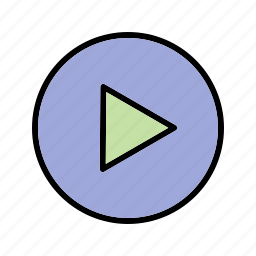 multimedia, music player, play icon