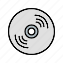 cd, compact disk, data, disk, dvd, storage icon