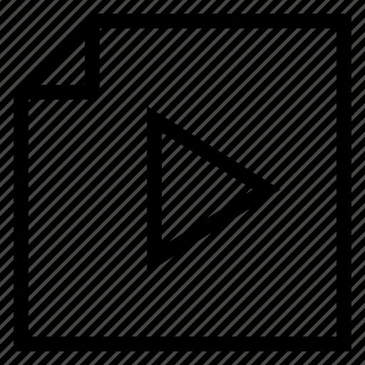 file, flv, format, media, multimedia, video, watch icon