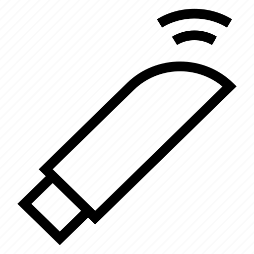 connector, data, flash, memory, transfer, usb, wireless icon