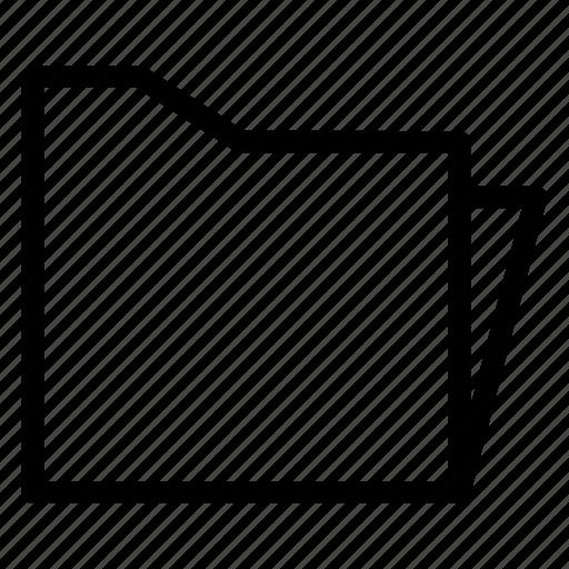 compressed, data, directory, filefolder, folder, open, storage icon