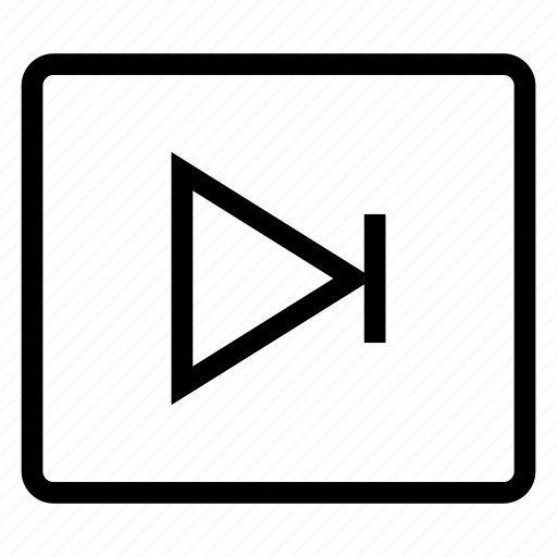 arrow, forward, media, next, player, sound, videos icon