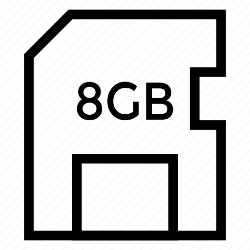 card, data, flash, memory, micro, sd, storage icon