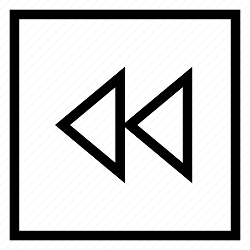 arrow, arrowleft, back, backward, media, playback, replay icon