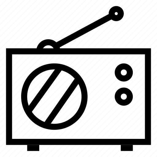 antenna, frequency, media, music, radio, signal, wave icon
